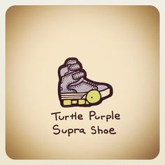 Turtle Purple Supra Shoe - @turtlewayne- #webstagram