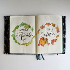 ✔ Inspiring October Bullet Journal Cover Ideas for Your Fall Themes ☞ From pumpkins and witches to Fall leaves and Harry Potter there's something in this accumulation of October Projectile Journal themes to get your expressive energies pumping! Bullet Journal Cover Ideas, Bullet Journal Themes, Bullet Journal Spread, Bullet Journal Layout, Journal Covers, Bullet Journal Inspiration, Journal Pages, Bullet Journals, Filofax