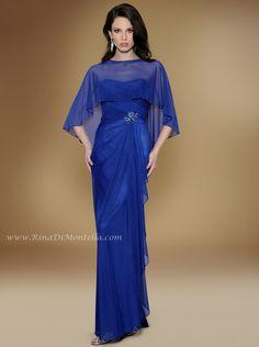Rina Di Montella Special Occasion Dress 1743 W/ CAPLET & SHAWL  http://RinaDiMontella.com//style/1743