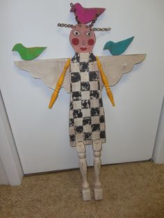 Another wooden figure - this one an angel.