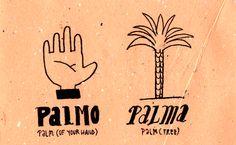 Learning Italian Language ~ Palmo, palma (Palm (of your hand) & Palm (tree)) IFHN