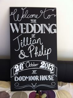 My DIY Chalkboard Welcome Sign « Weddingbee Boards