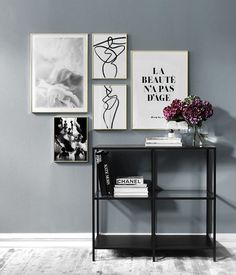 Inspiration for black and white decor. Wall art in black and white - Desenio Inspiration for black and white decor. Wall art in black and white - Desenio Decor Room, Home Decor Bedroom, Wall Art Decor, Living Room Decor, Bedroom Cabinets, Metal Tree Wall Art, Inspiration Wall, Dream Decor, White Decor