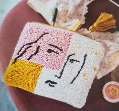 Punch Punch, Punch Art, String Art Diy, Diy Tableau, Diy Crochet Bag, Diy Pochette, Weaving Art, Punch Needle, Rug Hooking