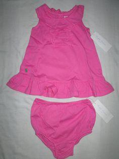 fa0305419b Ralph Lauren Baby Girl Dress Set Cascade Maui Pink 6 Months | eBay