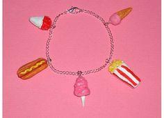 Carnival Foods Bracelet by PinkCupcakesJewelry on Etsy, $23.99