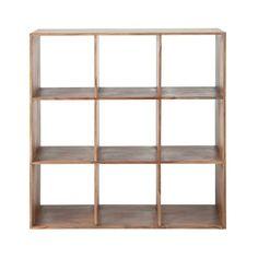 Solid sheesham wood shelf unit W 111cm