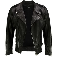 VIPARO Black Premium Cow Hide Leather Moto Biker Jacket - Cs2 (445 CAD) ❤ liked on Polyvore featuring outerwear, jackets, tops, coats, leather jackets, black, real leather jacket, motorcycle jacket, black moto jacket and 100 leather jacket