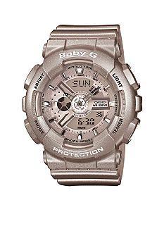 G-Shock Women's Baby-G XL Silver-Tone Ana-Digi Watch