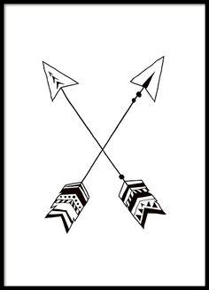 Tolles Poster mit schwarz-weißen Indianerpfeilen. Es passt wunderschön in jedes Kinderzimmer und lässt sich mit unseren anderen Kinderpostern kombinieren. www.desenio.de