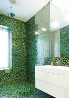 another mosaic bathroom : by Slade Architecture