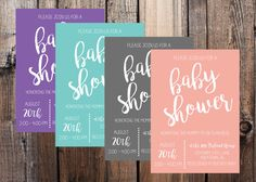 Simple Baby Shower Invitations with Color Options || Choose your own color || Make your own invitation