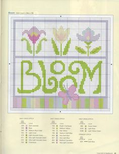 BLOOM 2 cross stitch chart. Gallery.ru / Фото #40 - 52 - ZinaidaR