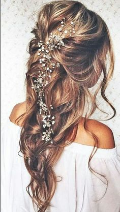 Tendance Coupe & Coiffure Femme Description Most Romantic Bridal Updos And Wedding Hairstyles ❤ See more: www. Romantic Bridal Updos, Boho Bridal Hair, Bridal Style, Wedding Hair And Makeup, Hair Makeup, Boho Makeup, Beach Makeup, Bridal Makeup, Bridal Beauty