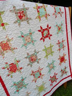 30% Off Coupon Code - Quilt Pattern PDF INSTANT DOWNLOAD -  Layer Cake or Fat Eighth - Crib or Throw Sizes - Rubys Ribbon Box