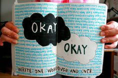 wtj wreck this journal - write one word over and over. The fault in our stars