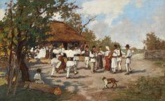 Ludovic Bassarab, Round-dance (Hora) in the village Romania, Painters, Nice, Artwork, Blouse, Work Of Art, Auguste Rodin Artwork, Artworks, Blouses