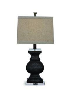 Carmel Modern Grey Ceramic Shade Table Lamp