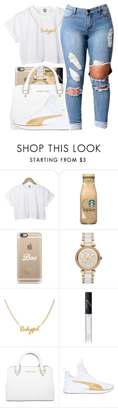"""You were from my past life✨"" by maiyaxbabyyy ❤ liked on Polyvore featuring CC, Casetify, Michael Kors, NARS Cosmetics and Puma"