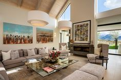Anchored by an expansive living room the home is composed of a series of separate structures. Farmhouse Architecture, Living Spaces, Living Room, Architectural Digest, Interior Design Inspiration, Modern Farmhouse, South Africa, House Plans, Interior Decorating
