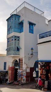 Sidi Bou Said in Tunesien, Ausflug ins Künstlerdorf Sidi Bou Said, Multi Story Building, Street View, Sayings, Travel Advice, Destinations, Viajes, Blue, Lyrics