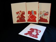 Reserved for Katie: handmade kimono silk cards
