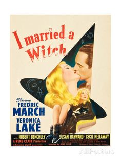 I MARRIED A WITCH, l-r: Veronica Lake, Fredric March on window card, 1942. Print at AllPosters.com
