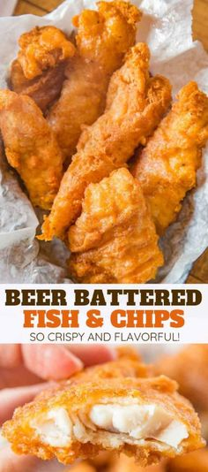 Beer Battered Fish made with fresh cod filets dipped in seasoned beer batter and fried until golden brown and crispy EASY to make and ready in only a few minutes fish fishandchips friedfoods fry cod crispy dinner cooking dinnerthendessert Tilapia Fish Recipes, Fried Fish Recipes, Easy Fish Recipes, Seafood Recipes, Fried Fish Batter Recipe, Salmon Recipes, Fish Batter Recipe Without Beer, Fish And Chips Batter, Recipe For Fried Cod Fish