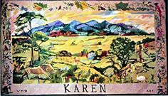 Karen.  Kenya Embroidery Panel from They Made It Their Home, East Africa Women's League.