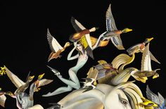 Las Fallas Valencia Spain,horse,birds