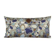 Discover the Missoni Home Perpignan Cushion - 170 - at Amara Luxury Sofa, Scatter Cushions, Missoni, Shades Of Blue, Jewels, Pillows, Brown, Stuff To Buy, Home