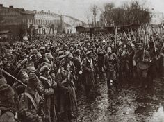 June 17, 1916 - Brusilov Captures Czernowitz. Pictured - Russian soldiers enter the city