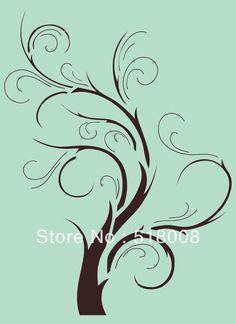 Tree Branch Home Decor | Wall Stencil Template Pattern Tree Branch Home Decor Border Custom ...