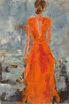 Orange dress by isabelle Nativelle