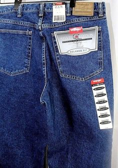 9d2cc3a9003b2e Wranglers Hero Silver Edition 5 Pocket Jean Blue Relaxed Fit 34x32 Straight  Leg #Wrangler #RelaxedFit