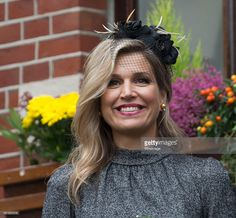 Queen Maxima of The Netherlands visits the former mining region on October 8, 2015 in Kerkrade,  Netherlands. The region this year celebrates the 'Year of the Mines', 50 years after the announcement of the closing of the mines. (Photo by Michel Porro/WireImage)