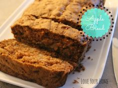 LOVE YOUR HOME > > > : Apple Bread Recipe Apple Bread, Banana Bread, Love Your Home, Bread Recipes, Posts, Desserts, Blog, Applesauce Bread, Postres