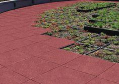 Red Rubber Floor Tiles For Garden