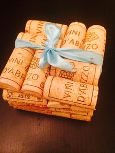 Set of four wine cork coasters by thisisourname on Etsy, $10.00