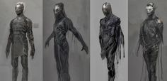Concept art de Thor: El Mundo Oscuro (2013), Elfos Oscuros por Justin Sweet