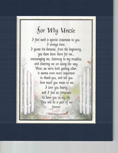 Aunt and Uncle Poem Print Verse Anniversary Christmas Thank You Gift Present Happy Birthday Uncle Quotes, Birthday Wishes For Uncle, Birthday Wish For Husband, Birthday Quotes For Daughter, Birthday Poems, Birthday Quotes For Best Friend, Card Birthday, Birthday Messages, Birthday Images