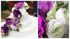 Paper flower cake topper #purpleflowercake #paperflowercake #caketopper #weddingflowercake