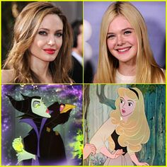 Maleficent (2014); Angelina Jolie as Maleficent; Elle Fanning as Princess Aurora