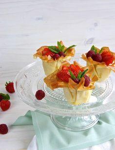 Tartaletas con relleno ligero / Phyllo tarts with skinny filling - Crispynut