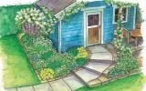 Zum Nachpflanzen: Weiße Blüten am Gartenhaus