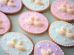 swan emblem sugar cookies