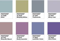 Pantone Color of the Year 2018 - Color Palette Purple Haze