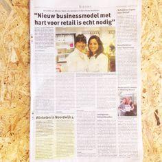 We blijven trots...zo stonden wij afgelopen woensdag met 1 pagina in de krant van Noordwijk! En nu al zoveel enthousiaste reacties mogen ontvangen. Wij lopen naast onze schoenen ;-))