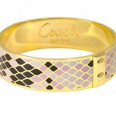 Coach Snakeskin Bracelet $59