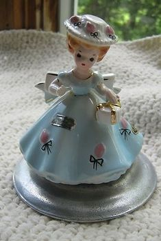 "Sweet ""April"" girl figurine from Josef Originals"